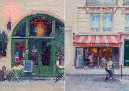 Or you could buy someone one of Paul Ferney's Little Paris Paintings and two Eurostar tickets. NB Last date for orders for Christmas is tomorrow, December 14. Found via Bright Bazaar.