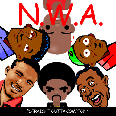 clipartcovers:  Straight Outta Compton by N.W.A. Original.