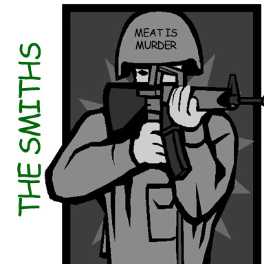 clipartcovers:  Meat is Murder by the Smiths. Original.