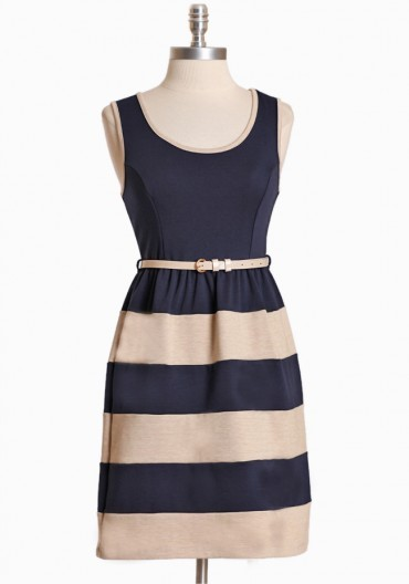 dresslikeglee:  Dress like Quinn:  sorenson striped classic cut dress $35.99 from Ruche