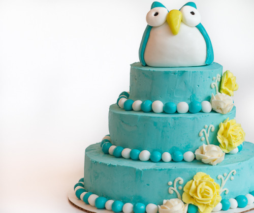 bakeddd:  owl birthday cake click here for recipe
