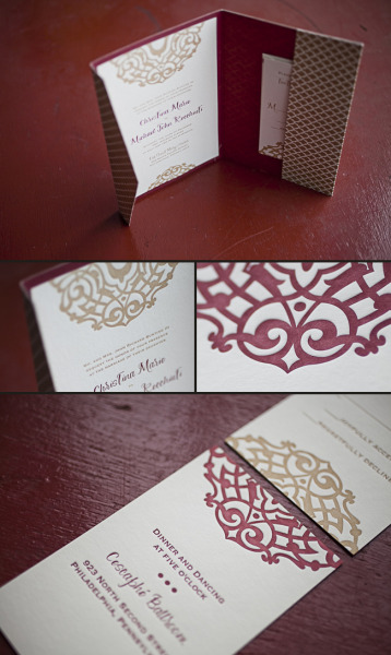 omgletterpress:  (via Early December Wedding Celebration! | Eco-friendly letterpress inspiration | Smock)