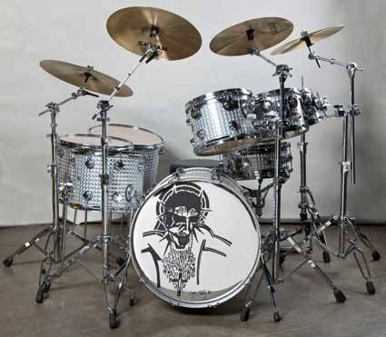 The kit Alice in Chains drummer Sean Kinney used to record Dirt (Hard Rock memorabilia collection)