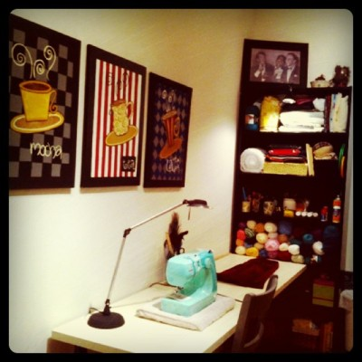 My sewing room is complete! (Taken with instagram)