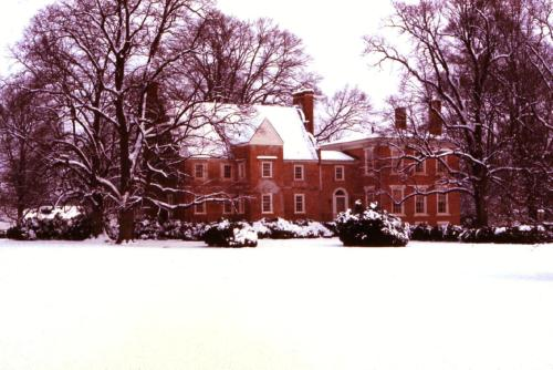 From the archives, Bacon's Castle in the snow. Happy Holidays from All of Us at Preservation Virginia!