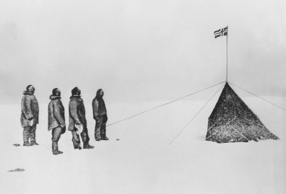 A new look at the deadly race to the South Pole as revealed in archive photosOne hundred years ago, Norwegian explorer Roald Amundsen won the race to the South Pole in a dramatic and ultimately fatal duel with British adventurer Robert Scott that captured the world's attention.On December 14, 1911, not long before the outbreak of World War I, as nationalism was on the rise in Europe, Amundsen and the four members of his team were the first to plant the Norwegian flag at the southernmost tip of the globe. Robert Scott arrived at the pole five weeks later only to find the Norwegian flag already there.While Roald Amundsen would live until 1928, Robert Scott would never leave the frozen continent. (Photo: AFP/Getty Images)