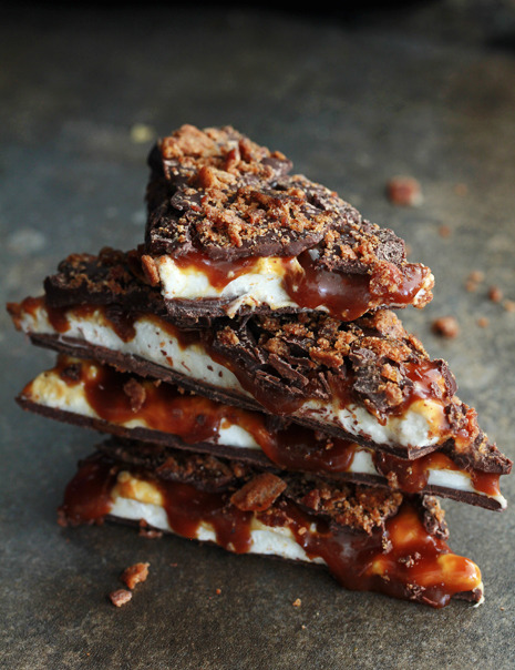 Whiskey Caramel Marshmallow & Bacon Bark