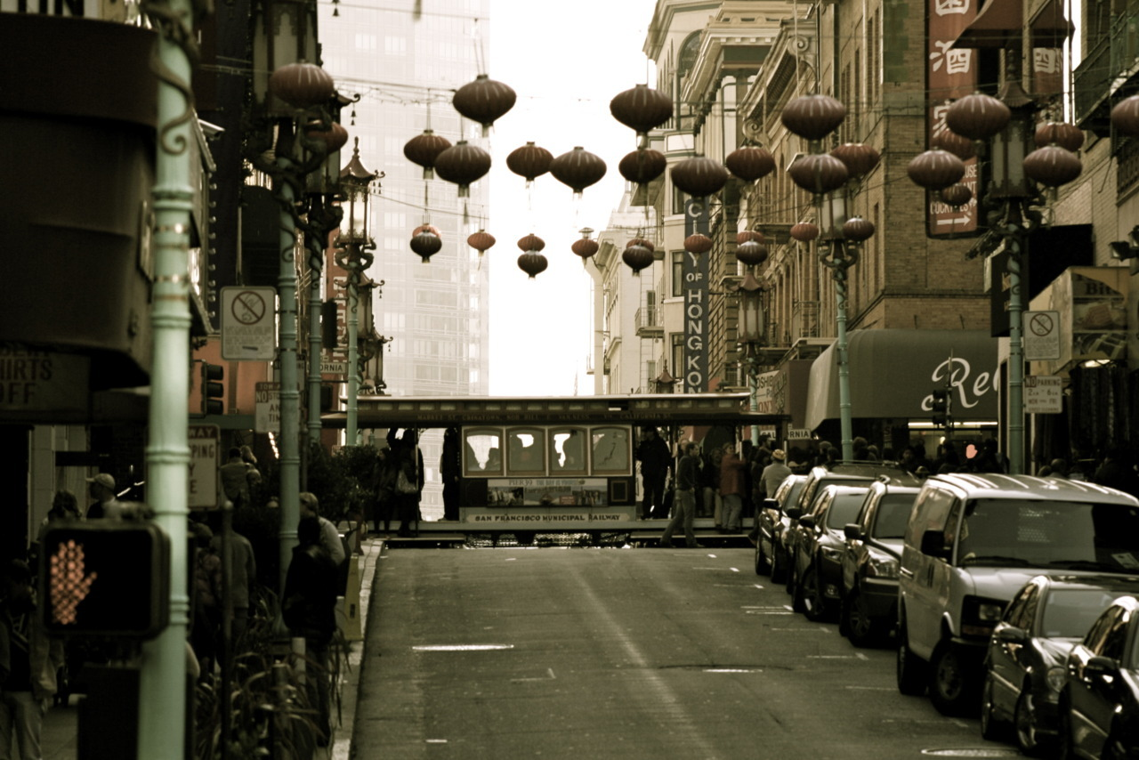 Chinatown. Location: Grant at California, San Francisco CA.