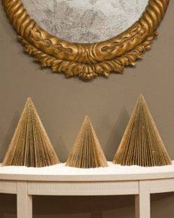 craftovision:  DIY Magazine Trees via MarthaStewart. We used to make these as kids but instead used old phonebooks (takes awhile) and old TV guides (remember those?!). Our method of folding was also a tad different…video idea? Possibly.