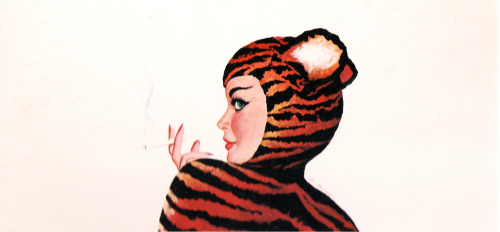 Tigra Cigarettes, illustration by Al Moore c. 1950's