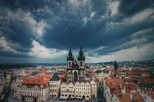 theworldwelivein:  Stormy Old Town | Old Town Square, Prague© TheFella | Tumblr
