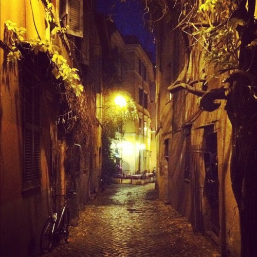 #rome #trastevere #night alley 2 (Taken with instagram)