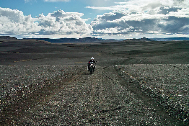 Middle of nowhere on Flickr. With a XT500 in Iceland. On the way to Askja.
