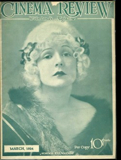 Norma Talmadge - Cinema Review magazine, 1924.