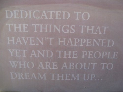 I couldn't agree more!  …here's to the dreamers, the doers, the visionaries via  thebackplane