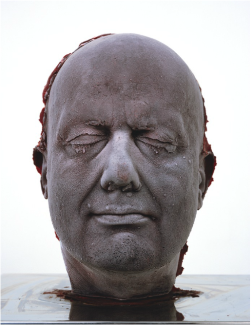 rodlovespop:  Marc Quinn creates busts of himself using his own blood. Each portrait is a documentation of the artist's head, as it ages every five years, and so represents a portrait of the artist over a fifteen year period.