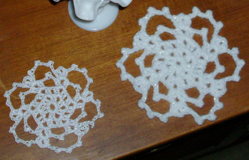 My crafty little snowflakes.