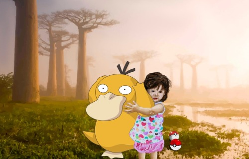 Today's 'I believe in Psyduck Adora' Photoshop was   created by artist James Baldwin from Bloomington, Indiana. His Internet Meme Series. His Facebook & Twitter accounts. This was done after a request on the Adora Art Wish List.  Thank you so much, James! - - - - - - - - - - - - - - - - When you click on the 'Adora Art' tag, you will be able to see the complete progress of this project since the first portraits of Adora were made