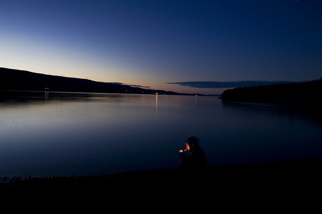 Smoking At Night on Flickr. My first night in Iceland at the Lagarfljót lake. Sept 2011