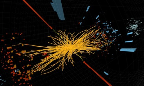 "'Tantalizing hints' of the 'God particle'? The Higgs is quite difficult to find, largely because if it exists, it disappears or transforms into another particle so quickly that it can't be measured. But two giant teams of CERN scientists announced on Tuesday that they'd seen ""tantalizing hints"" of the particle after ""sifting debris from high-energy proton collisions,"" saying a definitive conclusion could be reached as soon as Summer 2012. What did exactly they find?"