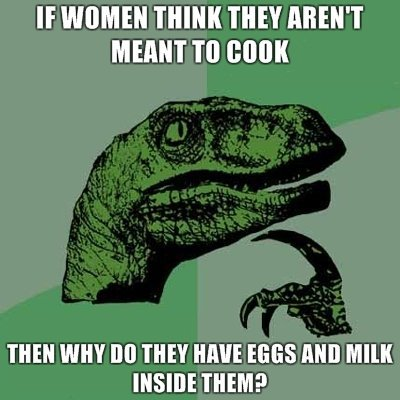 Because women also have ovens inside of them, repeatedly soiled by men who sometimes forget to turn it off for nearly a year until realizing they baked something in it and need to leave town quickly so they don't have to help with the dishes.