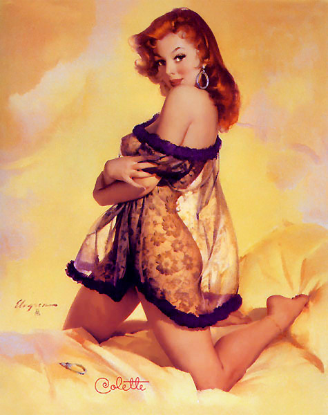 I've never seen this Gil Elvgren before! for-redheads:  Colette (1957) ~ Gil Elvgren