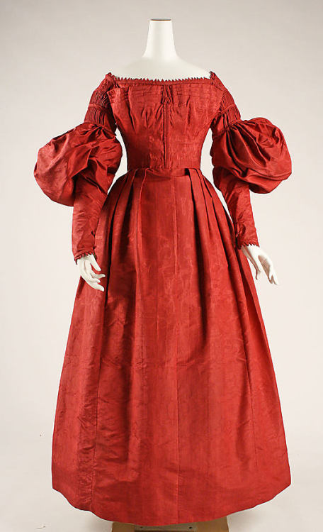 Dress, ca 1837 US, the Met Museum