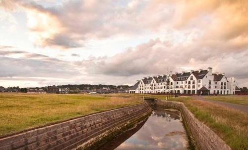 Carnoustie Golf Links at sunset.