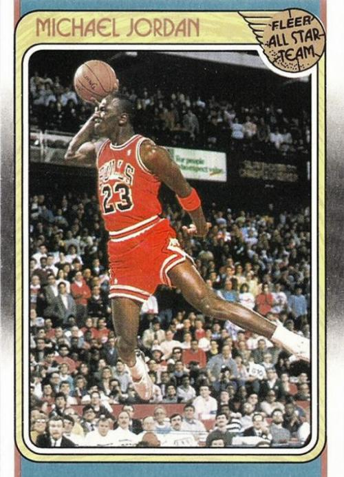 88/89 Fleer Michael Jordan All-Star Team Subset Card $12.00
