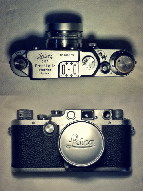 "woonder:  My ""new"" Leica IIIc (1946) More exciting than 10fps."