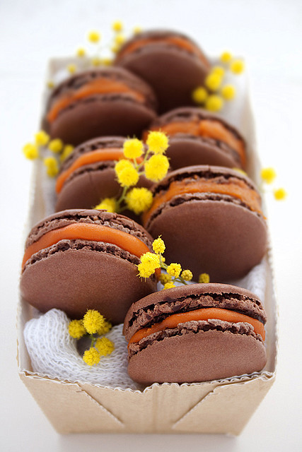 Chocolate Macarons Open by Mowie Kay on Flickr.