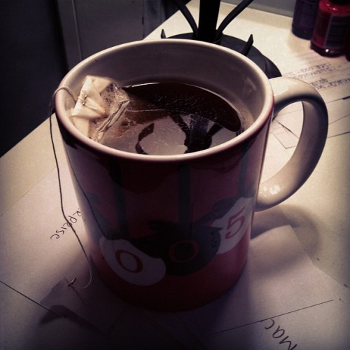 Girls gotta have her cup of tea☕ (Taken with instagram)
