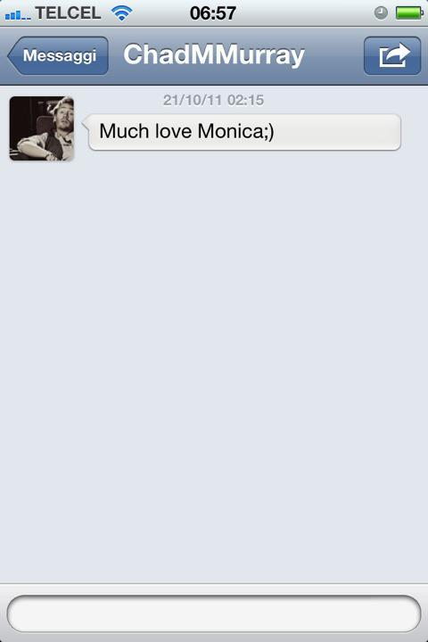 The best day in my life! Direct Message #oth #chadmurray
