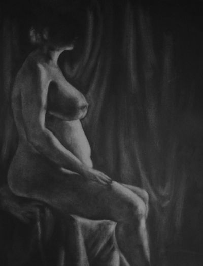 "Erased  Christine Sejung Lee 2010 17"" x 23"" Charcoal"