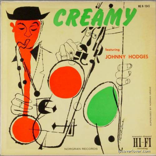 Johnny Hodges, Creamy, LP coverIllustration: David Stone Martin Source: LP Cover Lover