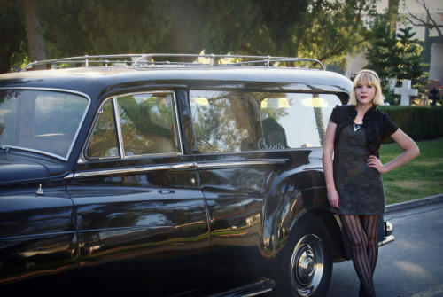 hannahbeckwith:  Hearse in the cemetery