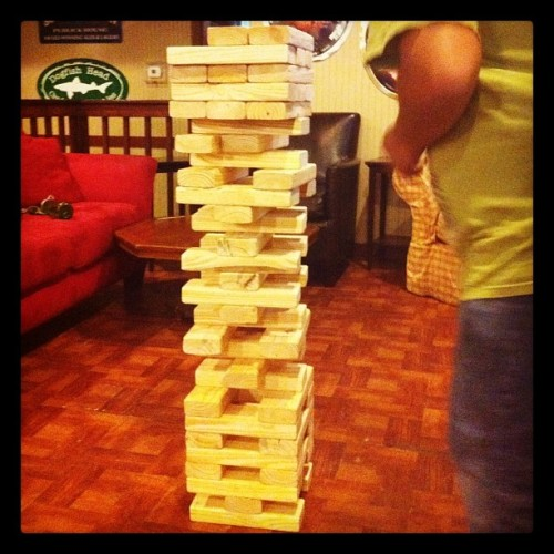 Life-size Jenga @ Mr. Beery's in #sarasota!  (Taken with instagram)