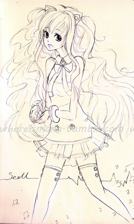 sketchhh of SeeU!! will be colored eventually >_>