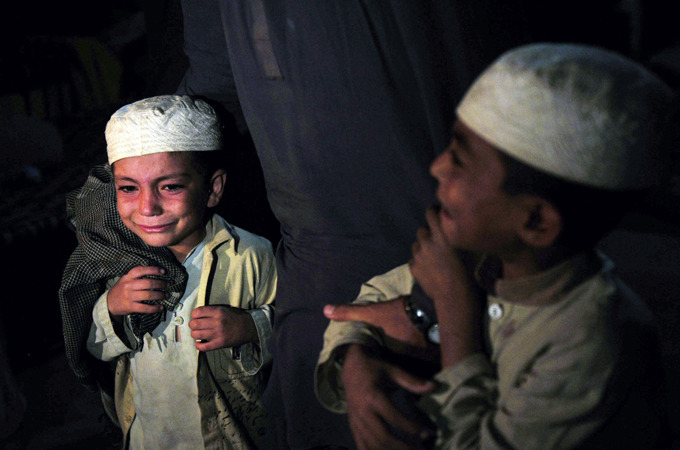 aljazeera:  Children rescued in Pakistan seminary raid |   More than 50 students, including drug addicts, found in basement of a Karachi school, many shackled with chains.