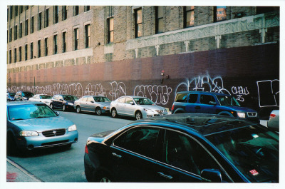 Walked by this wall on the daily when i was living around 14th st. It was always changing from one artist/writer to the next. Love. CHEW & ADEK …