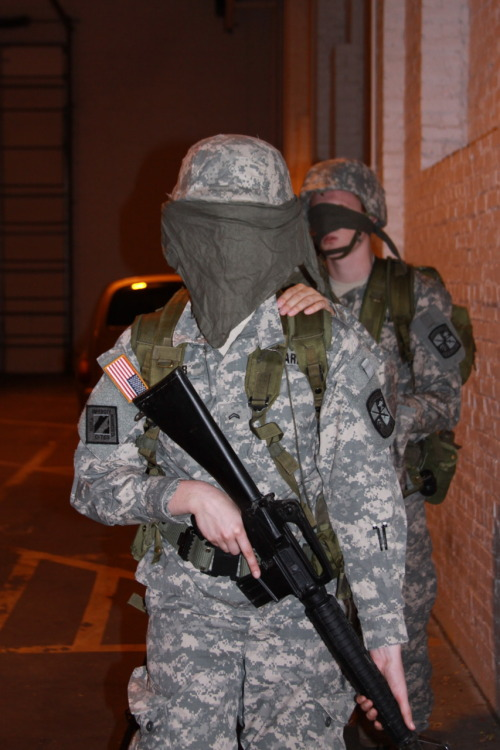 "University of Minnesota Army ROTC cadets participate in a ""Confidence Lab"" as part of the military science curriculum."
