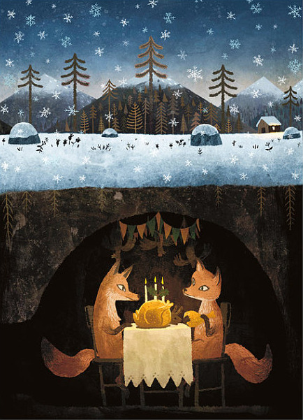 "seewhatjadesees:  ""Winter Foxes"" by Chuck Groenink"