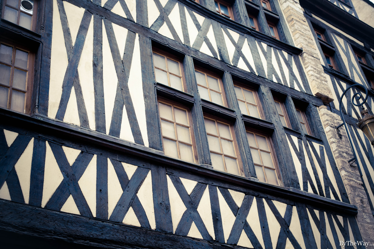 Old timber house in Dijon, Burgundy, France