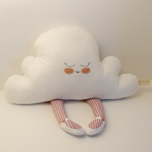 Hug A Cloud in pink and gray - goodbyebluemonday