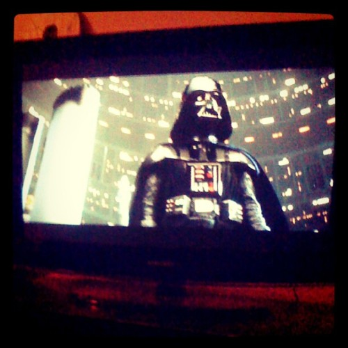 Watchin Star Wars.  (Taken with instagram)