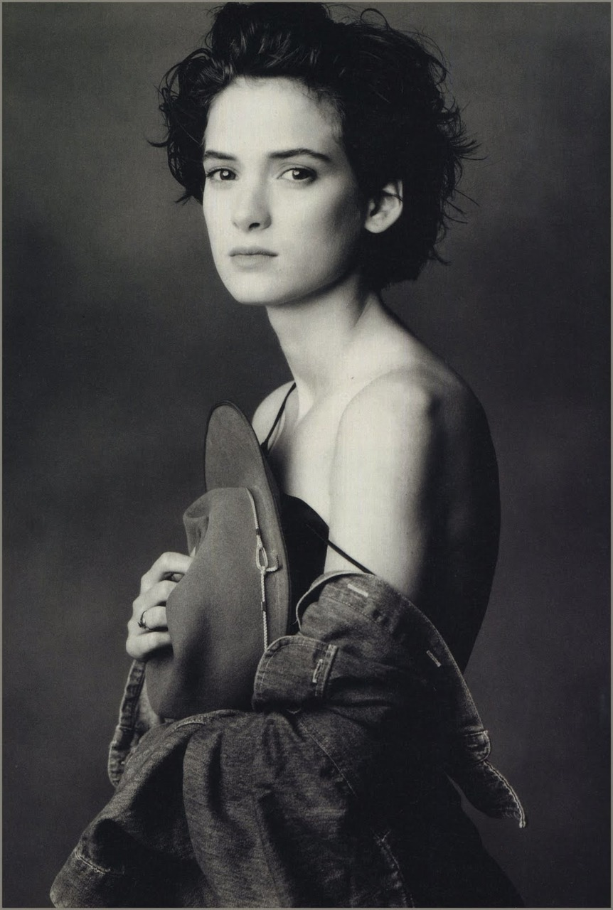 A portrait of Winona Ryder by Annie Leibovitz