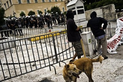 5 oct 2011, close to the Greek Parliament at #syntagma