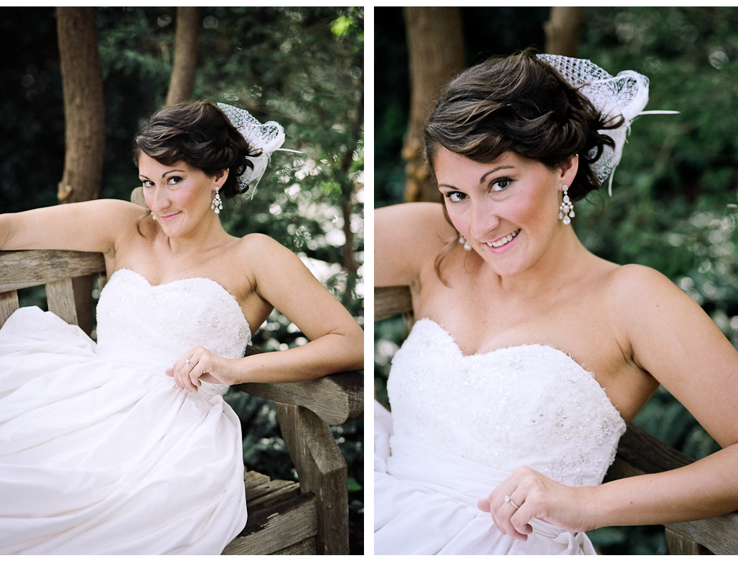 Raleigh, NC Bridal Portrait Photographer - Kelly I think this shot provides an excellent example of why, as a professional photographer, I shoot film. These are just a couple images from Kelly's bridal portrait session, all shot on Kodak Portra 160NC…look at the way it renders her skin! Keep in mind this is with NO editing and NO Photoshop. Also, gotta love the bokeh from the 85mm lens.  Wowzers! This was shot with a Nikon F100 and 85mm f/1.8 lens on Kodak Porta 160NC. © Andrew Pearson 2011 www.aepearson.comwww.facebook.com/aepearsonphoto
