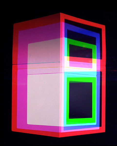 "- atelier-e:  Jessica Eaton's series, ""Cubes for Albers and LeWitt"""