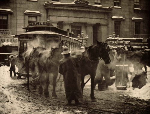 NY in the snow, 1892 - ('The Terminal' - Alfred Stieglitz)